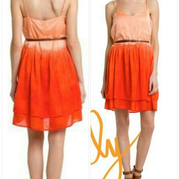 a003c88ff Patterson J. Kincaid Dresses | Patterson J Kincaid Dip Cammi Orange ...